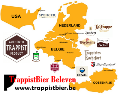 Trappist Brewery World Map