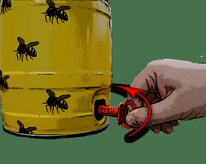 How to open a mini keg step 3