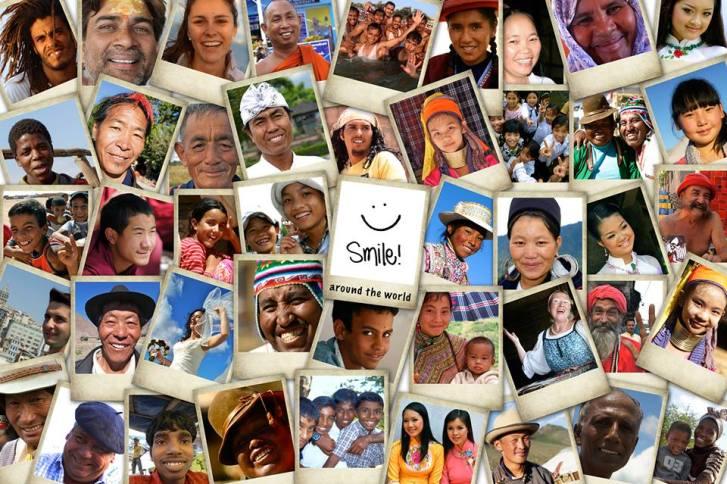 El mundo te sonríe si tu le sonríes.