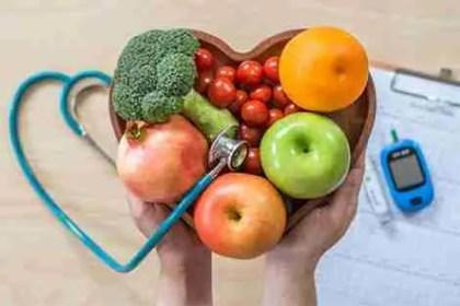Alimentação saudável ajudando no controle do diabetes