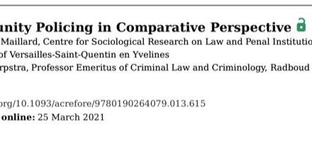 Community Policing in Comparative Perspective