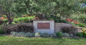 Entrance to Westridge Aliso Viejo homes