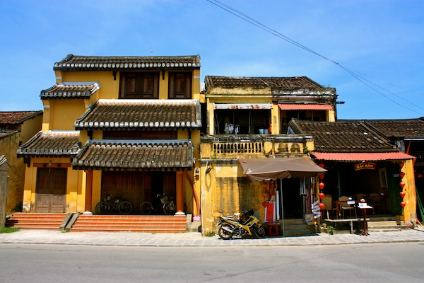 Yellow house with tile roof in Hoi An, Vietnam