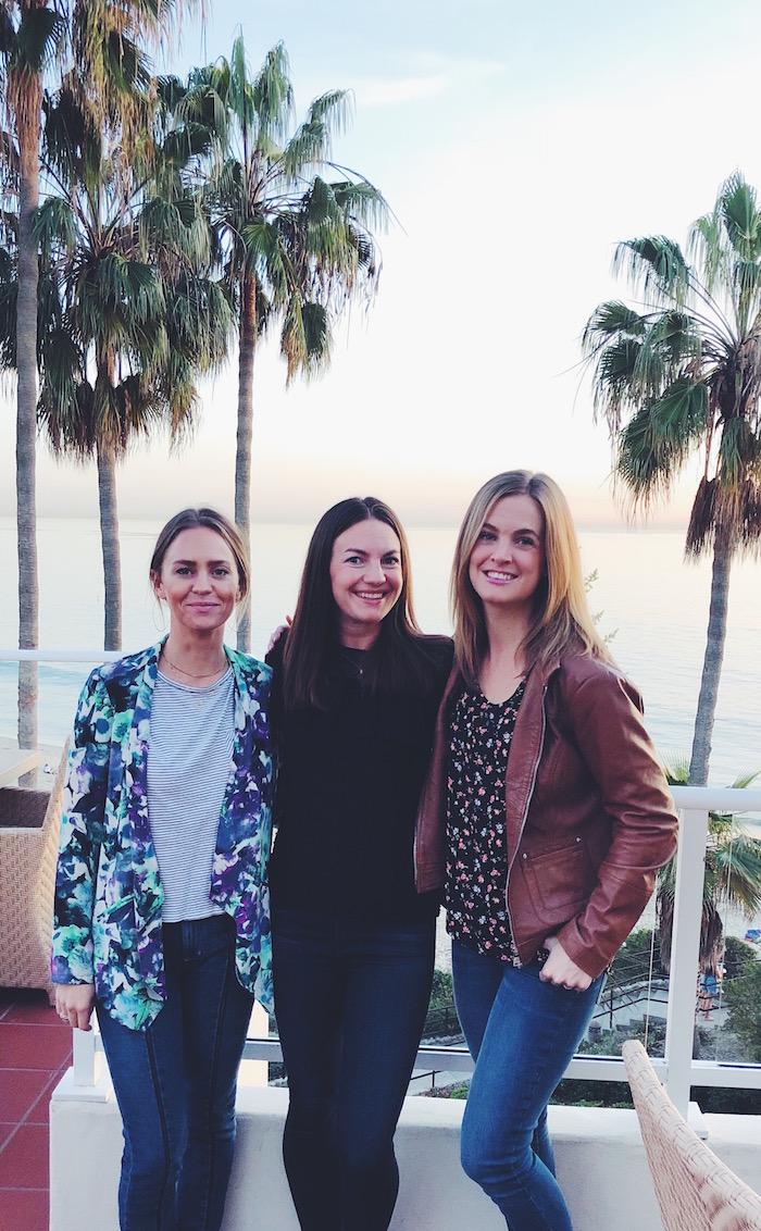 Aly Gill, Christine Merrill and Katelyn Downey in Laguna Beach