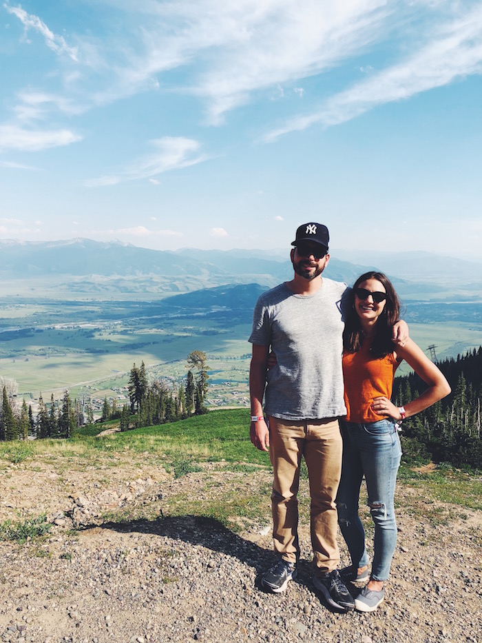 David & Christine Merrill in Teton Village, Wyoming
