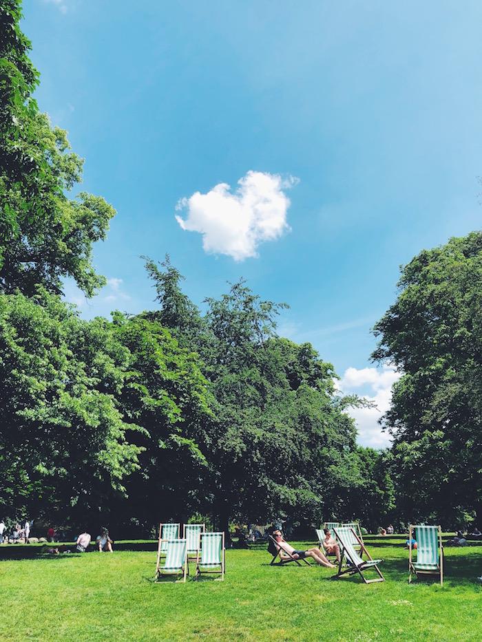 Hyde Park in London in summer
