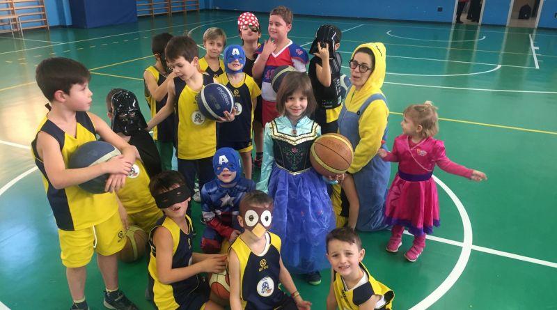 Settore Minibasket: tutti in maschera a Carnevale!!!