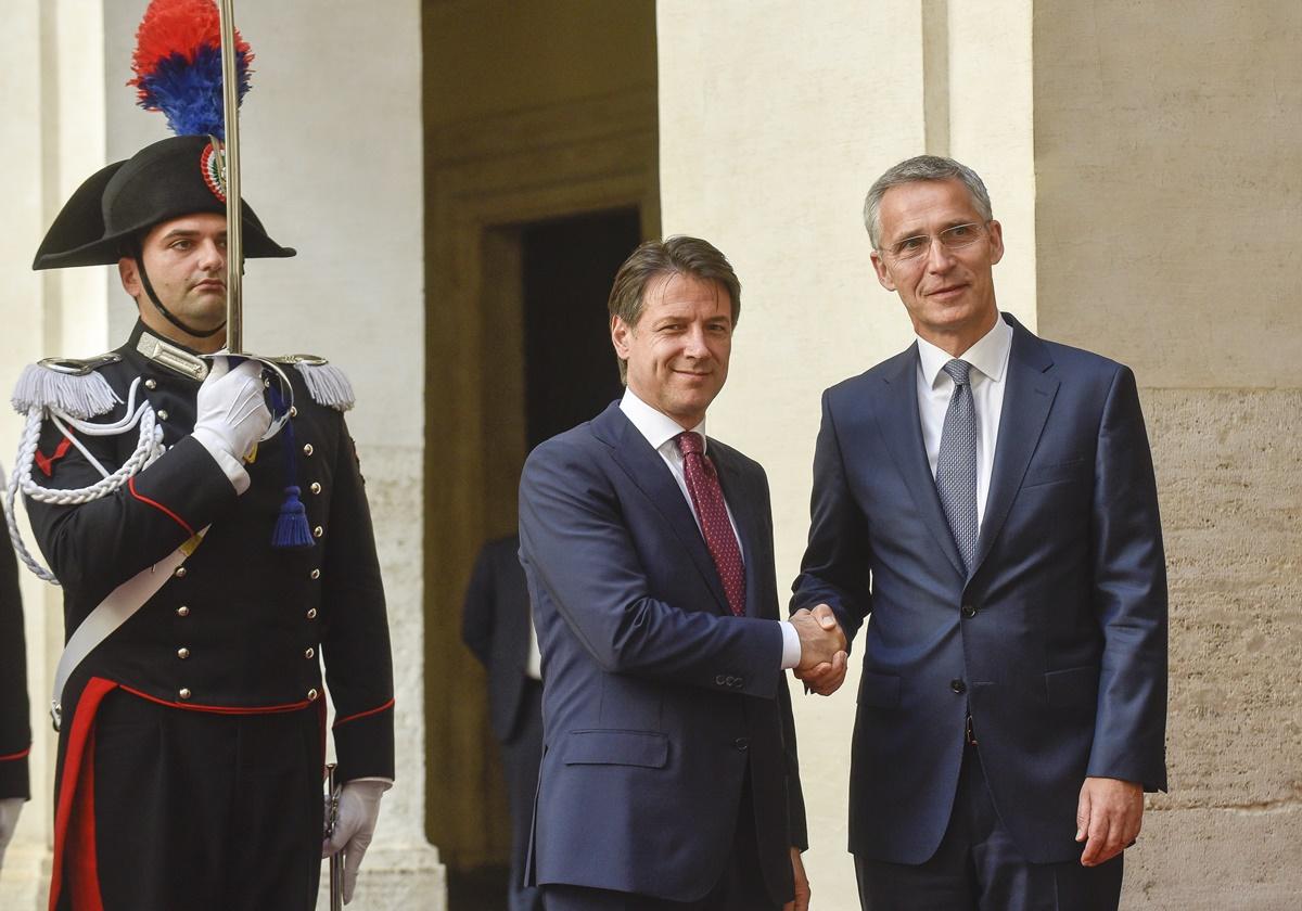 IL SEGRETARIO GENERALE DELLA NATO A PALAZZO CHIGI