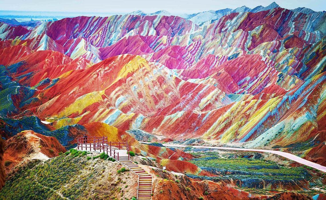 Zhangye Ulusal Jeopark, Çin [object object] Asya'nın 7 Doğal Harikası Zhangye Ulusal Jeopark in
