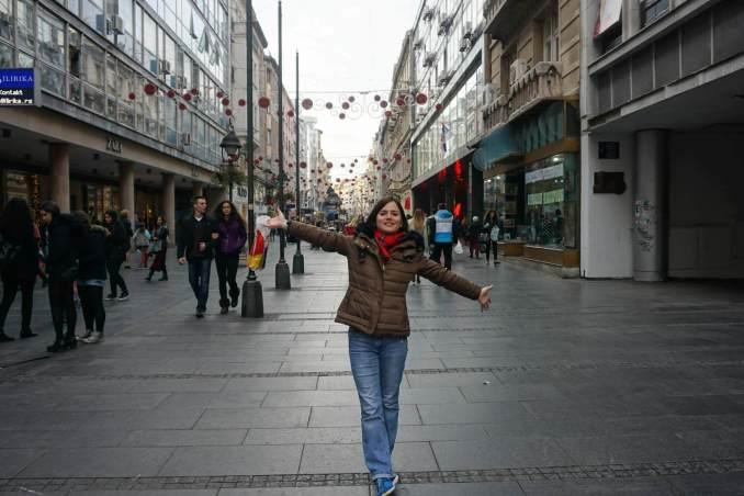 Sırbistan Belgrad Knez Mihailova Caddesi