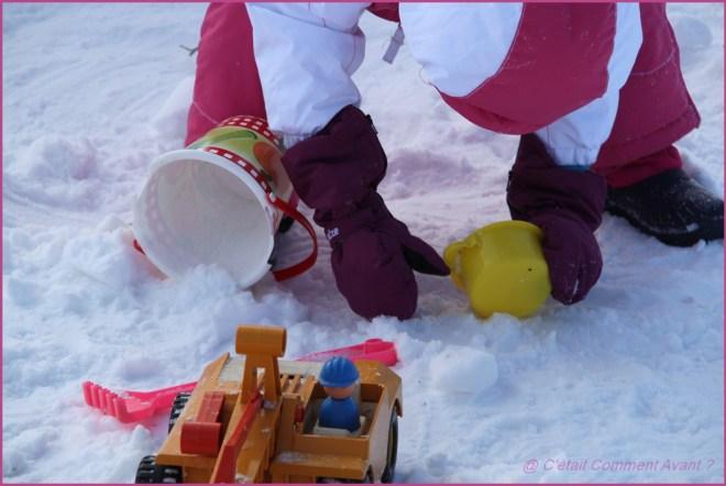 et vouloir faire un château de neige !