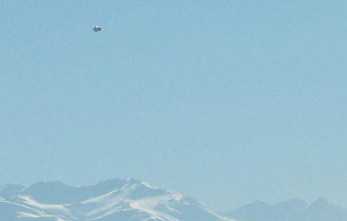 Possível UFO em Santiago, Chile