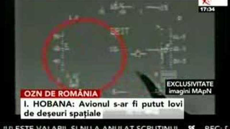 Caça romeno se choca com OVNIs