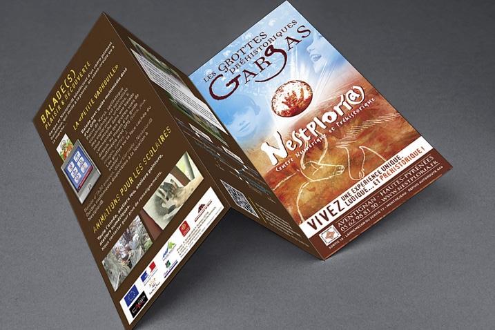 Mockup de la plaquette de présentation de Gargas réalisée par le CETIR