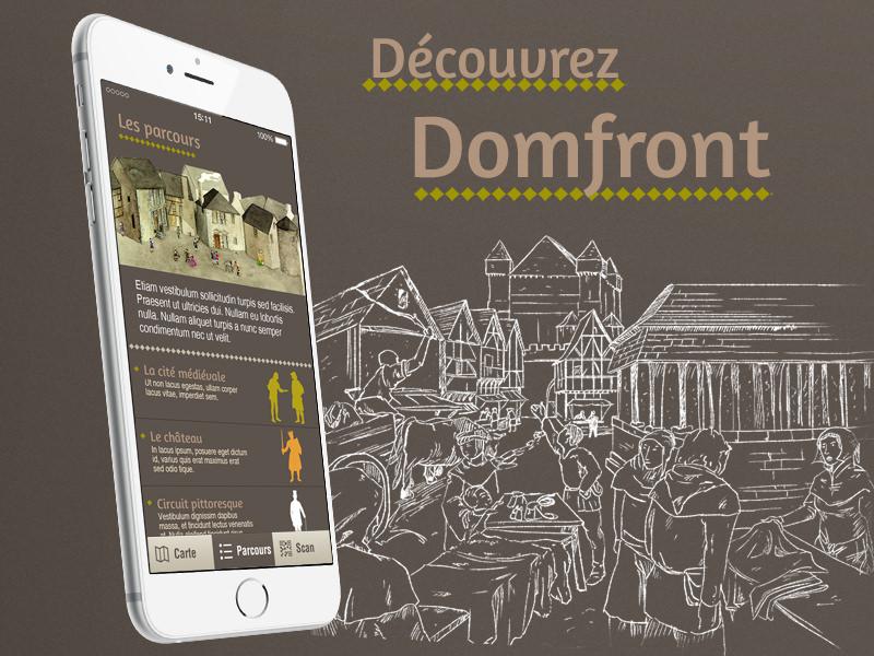 Découvrez Domfront - application mobile - jeux et quiz