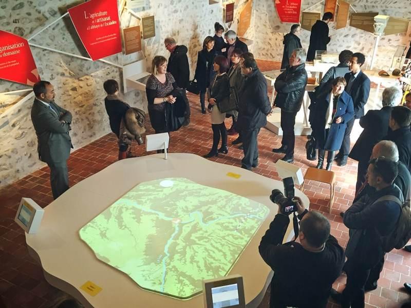 parcours multimédia, scénographie, abbaye de l'escaladieu