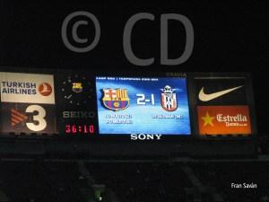 La AD Ceuta perdía por 2-1 al descanso tras un golazo de Guzmán