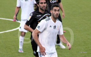 Fran Pineda marcó dos goles en su debut con el Atlético de Ceuta