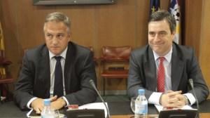 Miguel Cardenal y José Luis Aztiazarán, presidentes del CSD y la LFP