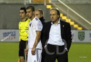 Álvaro Pérez junto a Ismael que es duda para el partido del Antoniano.