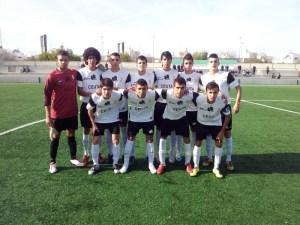 Formación del Ceutí, esta mañana en la Ciudad Deportiva 'Luis del Sol'
