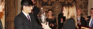 El K-4 de Juan González Granado, premio Nacional del Deporte Princesa de Asturias