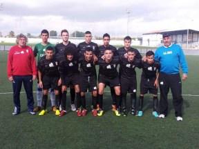 Formación inicial de la UA Ceutí, hoy en la Ciudad Deportiva del Recreativo