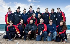 La selección femenina, con Lorena Miranda (arriba, la primera a la izquierda), es una de las favoritas tras su subcampeonato olímpico