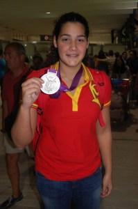Lorena Miranda, plata en los Juegos de Londres, ha alcanzado las 76 actuaciones internacionales