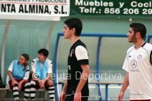 Juan Mora, durante un partido de esta temporada con su equipo, el Ciudad de Ceuta FS