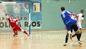 Sergio Murcia ha sido hoy el portero del Ceutí FS y ha cuajado una gran actuación