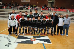 Formación del combinado ceutí antes de debutar en el Nacional Sub-16 de fútbol sala
