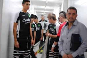 La selección caballa, poco antes de saltar a la cancha para estrenarse en el Nacional