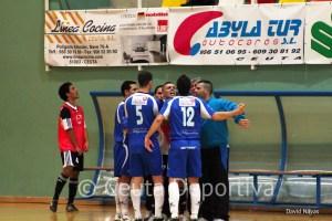 Los jugadores del Manzanares evidenciaron su frustración en varias fases del partido