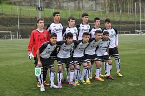 Los cadetes de Kryos Evangelos jugaron de inicio con este equipo ante el País Vasco