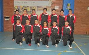 Combinado infantil masculino que participa en el Campeonato de España