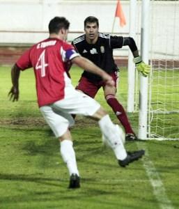 El portero del Atlético de Ceuta, José Vicente Garrido, suma 277 minutos imbatido