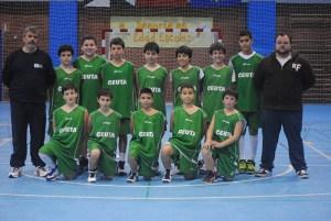 Selección de minibasket masculina que participará en el Campeonato de España
