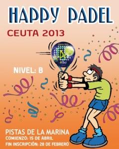 Reproducción del cartel del 'Happy Pádel 2013'
