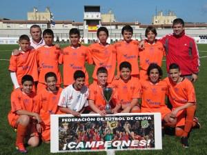 El Natación Ceuta se proclamó campeón de la Liga de fútbol infantil