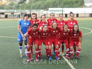 La UD Carmelitas presentó este once en el decisivo partido ante el Granada en el Benoliel
