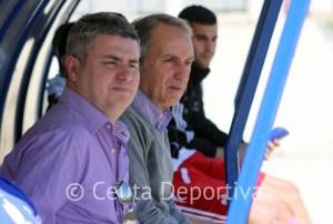 Álvaro Pérez, este domingo en la Ciudad Deportiva del recreativo de Huelva