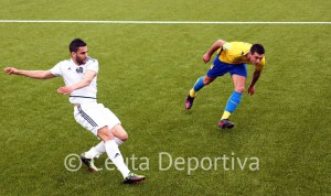 Segura, en un lance del partido del pasado domingo ante el Cádiz B