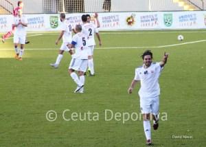 Jesús Villatoro, celebrando un gol esta temporada