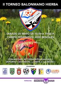 Cartel del II Torneo Balonmano Hierba que organiza el Ramón y Cajal