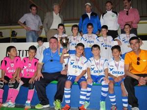 El CD Puerto Disa, campeón de la Liga benjamín de fútbol sala