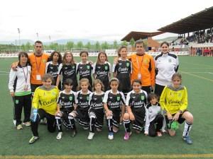 Las chicas participaron por primera vez en un Campeonato de España alevín de fútbol 8