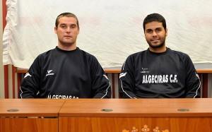 Nacho Rilo, en la imagen junto a Andrés Eslava, es una petición del entrenador del CD San Roque