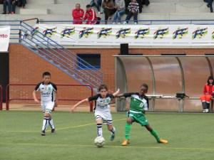 Un lance del partido entre Ceuta y Extremadura, saldado con empate a uno