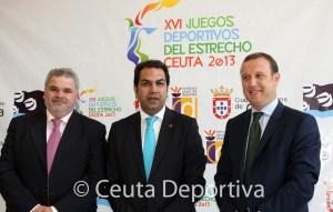 El subdirector general de Deporte, Manuel Coronado; el consejero del área, Premi Mirchandani;  y el gerente del ICD, Luis Márquez Salinas